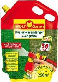 Wolf-Garten Flüssig-Langzeit-Rasendünger LL 250 R 2,5L (Nachfüllpack)