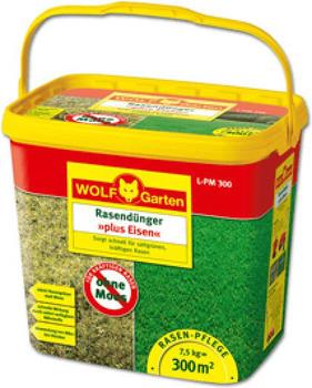 Wolf-Garten Rasendünger plus Eisen L-PM 300