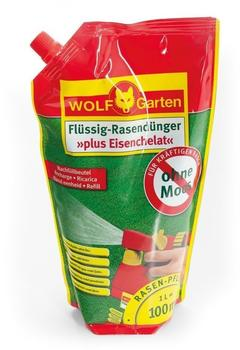 Wolf-Garten Flüssig-Rasendünger plus Eisen LM 100 R 1 Liter (Nachfüllpack)