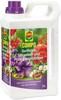 Compo Surfinien-, Geranien- und Pelargoniendünger 3 Liter
