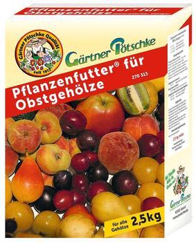 Gärtner Pötschke Pflanzenfutter für Obstgehölze 2,5 kg