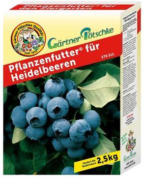 Gärtner Pötschke Pflanzenfutter für Heidelbeeren 2,5 kg