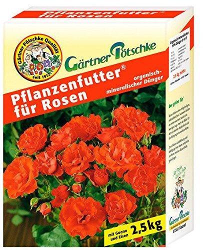 Gärtner Pötschke Pflanzenfutter für Rosen 2.5 kg