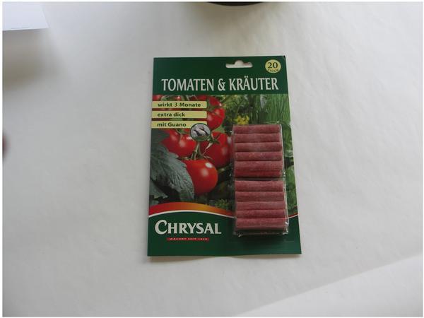 Chrysal Tomaten und Kräuter Düngestäbchen 20 Stück