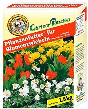 Gärtner Pötschke Pflanzenfutter für Blumenzwiebeln 2,5 kg