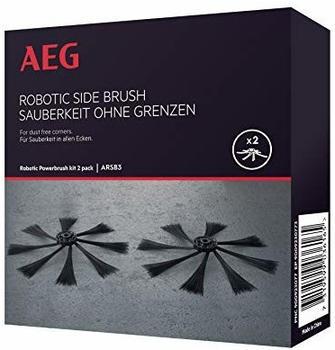 AEG ARSB3 Seitenbürsten für den RX9 Saugroboter (2er Pack, Ersatzbürsten, präzises und gründliches Saugen, optimale Staubaufnahme, extra weich, einfaches Tauschen) schwarz