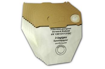 eVendix Staubsaugerbeutel 10 Staubbeutel + 1 Hygiene-Mikrofilter HEPA-Filter+ 2 Kohlefilter passend für Vorwerk Kobold VK130 131 SC