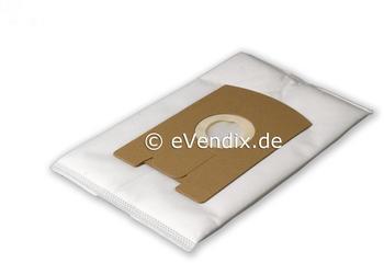 eVendix Filterset passend für Vorwerk Tiger / Kobold VT 260: 10 Staubsaugerbeutel + 2 Rundbürsten EB 360, 370 (1 Paar)