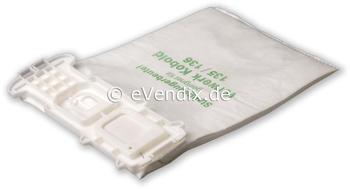 eVendix Filterset passend für Vorwerk Kobold VK 135 / 136: 18 Staubsaugerbeutel + 1 Rundbürsten EB 360 / EB 370 (1 Paar)
