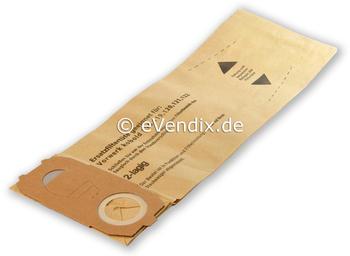 eVendix Filterset passend für Vorwerk Kobold VK 118, 119, 120, 121, 122: 20 Staubsaugerbeutel + 1 Rundbürsten ET 340, EB 350, EB 351 (1 Paar) 6
