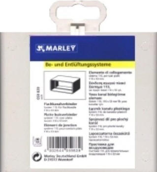 Marley Fl.-Kanal-Verbinder weiß