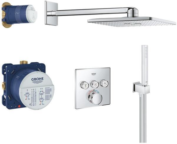 Duschsystem mit Thermostatbatterie f/ür die Wandmontage  moon white  26507LS0 GROHE Euphoria SmartControl System 310 Duo  Brause-und Duschsysteme