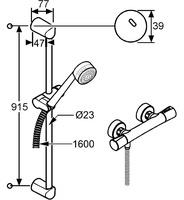 Kludi Zenta Duschsystem mit Thermostat (Chrom, 6057705)