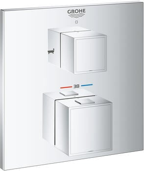 GROHE Grohtherm Cube Thermostat-Wannenbatterie Design eckig Chrom (24155000)