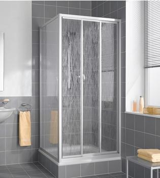 Kermi Nova 2000 Gleittür 3-tlg. BxH: 90 x 185 cm silber matt/Kerolan Fontana
