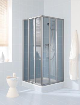 Kermi Ibiza 2000 Eckeinstieg-Gleittür 3-tlg. BxH: 90 x 185 cm silber matt/klar