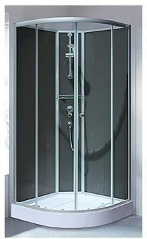 Schulte Kreta II Fertigdusche 89 x 89 cm schwarz