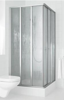 Kermi Nova 2000 - Eckeinstieg 3tlg. mit Gleittüren BxH: 80 x 185 cm (Halbteil)