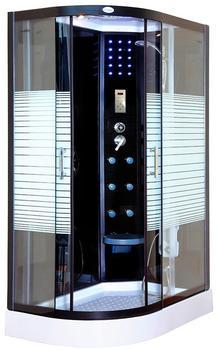 Home Deluxe Black Pearl Duschkabine 120 x 80 cm links