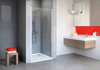 Schulte Nischentür »Alexa Style 2.0«, Duschtür mit Verstellbereich von 88-92 cm silberfarben