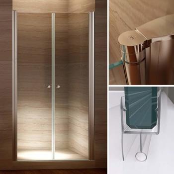 i-flair Duschtür Pendeltür Nischentür Duschabtrennung aus 6mm Sicherheitsglas mit Nanobeschichtung