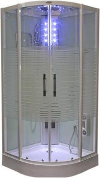 AcquaVapore DTP8068-2310 Dusche Duschtempel Komplett Duschkabine 100x100