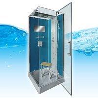 AcquaVapore DTP6038-4101R Dusche Duschtempel Komplett Duschkabine -Th. 100x100