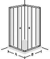 Villeroy & Boch FRAME TO FRAME Schiebetür für Eck 2-teilig WEM 880-905 x 780-805 mm verchromt