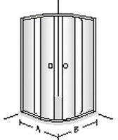 Villeroy & Boch FRAME TO FRAME Schiebetür für Viertelkreis, 2-teilig WEM 980-1005 mm verchromt