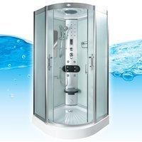 AcquaVapore DTP8046-0011 Dusche Duschtempel Komplett Duschkabine -Th. 80x80