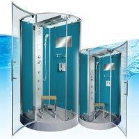 AcquaVapore DTP6037-8100 Dusche Duschtempel Komplett Duschkabine 80x80,