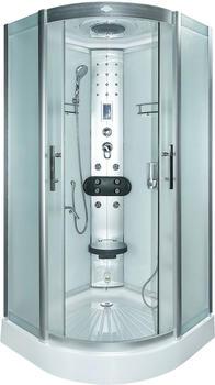 AcquaVapore DTP8058-1300 Dusche Duschtempel Komplett Duschkabine 90x90,