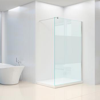 Home Deluxe Navaa Duschtrennwand 90 x 190 cm Milchglasstreifen