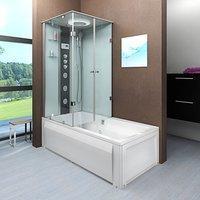 AcquaVapore DTP50-A005R Wanne Duschtempel Badewanne Dusche Duschkabine 90x180