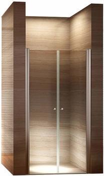 i-flair Duschtür Pendeltür Nischentür Duschabtrennung Schwingtür Dusche Klarglas 112-116 cm, Höhe