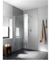 Kermi Walk-In Wall Atea TWF 09020, Farbe: Weiß Echtglas klar