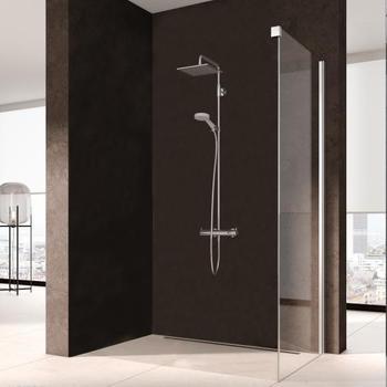 Kermi Nica Seitenwand BxH: 110 x 200 cm silber glanz/klar