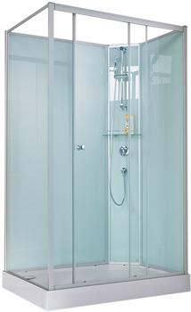 Schulte Komplett-Set: Komplettdusche Ibiza, 204 x 120 cm silberfarben