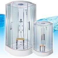 AcquaVapore QUICK18-0000 Dusche Duschtempel Komplette Duschkabine 80x80
