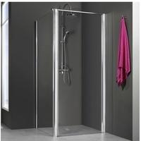 Breuer Duschtür Elana 6 für Seitenwand 90x200 cm rechts Alu Silber matt