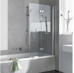 Kermi Diga Badewannen-Faltwand DI2PR10015VPK 100x150cm, silber hochglanz, ESG klar Clean, rechts