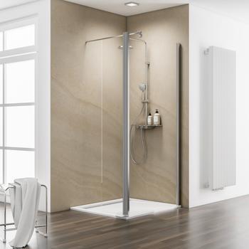 Schulte Walk-in-Dusche MasterClass, Einscheibensicherheitsglas 90 cm x 200 cm