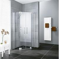 kermi-pasa-xp-fuenfeck-duschkabine-pendeltuer-pxf5010020vpk-100x100x200cm-silber-hochglanz-esg-klar-clean