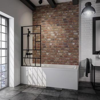 Schulte Black Style Atelier Badewannenaufsatz BxH: 80 x 140 cm