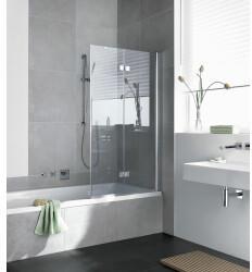Kermi Diga Badewannenaufsatz Klarglas hell KermiClean Weiß (DI2PR120152PK)