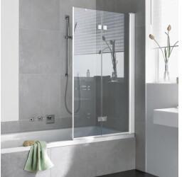 Kermi Diga 100x151,7cm Faltwand 2-flügelig Klarglas hell KermiClean Weiß (DI2PR100152PK)