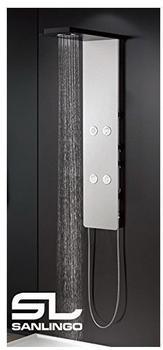 Sanlingo Aluminium Duschpaneel Komplettdusche Duschsäule Weiß Schwarz Massage Regendusche Sanlingo