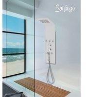 Sanlingo Aluminium Duschpaneel in weiß mit Massagedüsen und Regendusche von Sanlingo