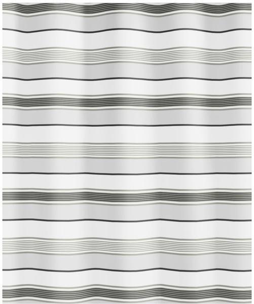 Kleine Wolke Stripes Duschvorhang (180 x 200 cm) grau