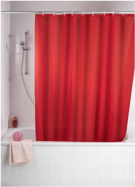 Wenko Anti-Schimmel Duschvorhang (200371) rot